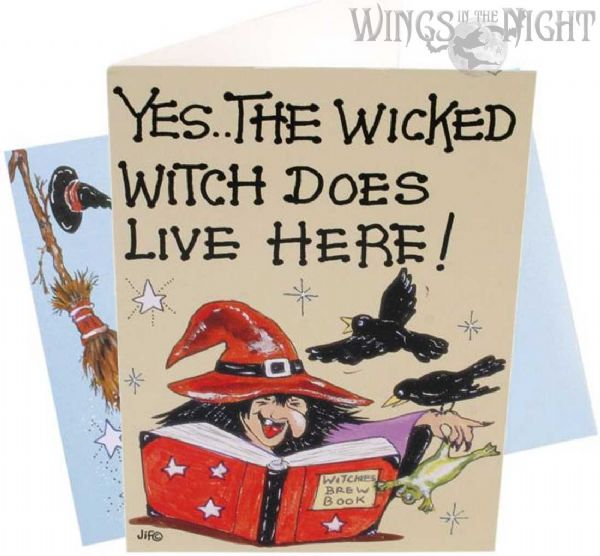 WICKED WITCH Humourous Greeting Card
